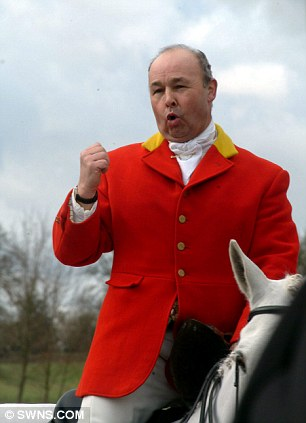 Brian Fraser, a former joint master of the Ashford Valley Hunt