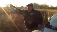 Fox hunt supporter rams van into protesters before yelling sexist abuse at woman activist