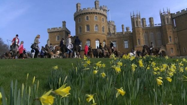 The Belvoir Hunt is based at the Duke of Duchess of Rutland's home Belvoir Castle in Leicestershire