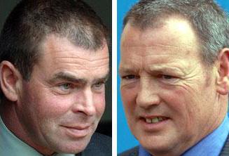 Fernie Hunt Derek Hopkins, left, and Kevin Allen