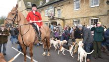 Fitzwilliam Hunt: New Year's Day hunt at Wansford.