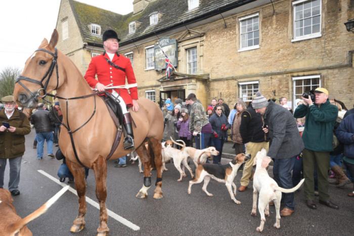 Fitzwilliam Hunt: New Year's Day hunt at Wansford.