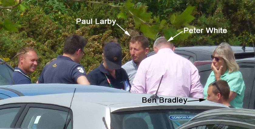 Ben Bradley meeting with convicted hunters Paul Larby and Peter White in Mansfield.