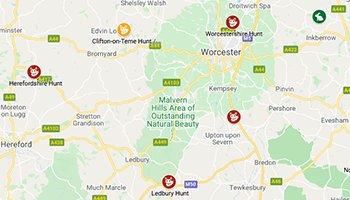 Hunt Kennels Map