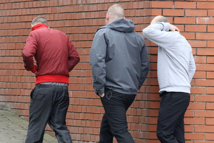Kyle and Danny Green and Martin Skinner at Chesterfield magistrates' court before they were jailed for injuring a badger and for two counts of causing a dog to suffer.