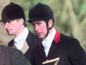 Lord Mancroft and Prince Charles hunting