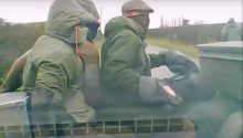 Masked Middleton Hunt terriermen involved in the attack