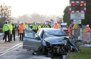 Richard Tierney's damaged car