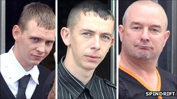 Robbie Lees, David Cassels and Samuel Burgoyne