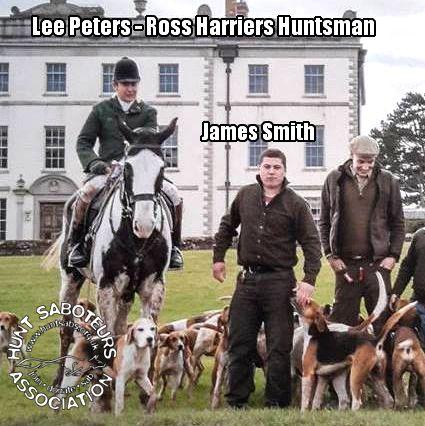 Ross Harriers huntsman Lee Peters with terrierman James Smith